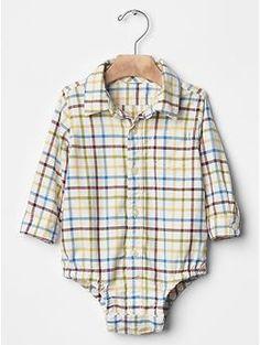 Plaid flannel body suit | Gap