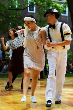 More lindy hop dancers. Photo taken by The Sartorialist (2009) #swing #lindyhop #charleston