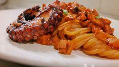 Linguine al ragù di polpo con polpo grigliato – Chef Pucci