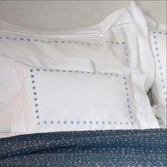 Blue Dots Baby Pillowcase by SARAHK designs | SARAHK designs