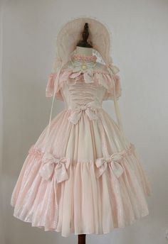 I would totally use this for a Bo Peep costume this Halloween   Henrietta -The Rose Grove- Lolita Jumper Dress Short Version