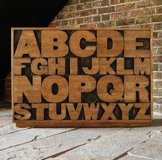 Alphabet chest drawer