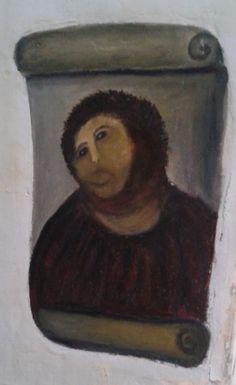 El eccehomo de Cecilia. Esto sí que es arte.