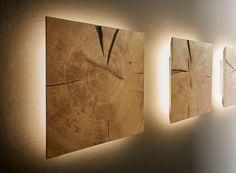 Dryad Interior Kollektion Wandelement mit Beleuchtung Hirnholz Eiche massiv - Möbel Mit www.moebelmit.de