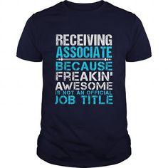 RECEIVING ASSOCIATE T Shirts, Hoodies. Check price ==► https://www.sunfrog.com/LifeStyle/RECEIVING-ASSOCIATE-111050340-Navy-Blue-Guys.html?41382 $21.99