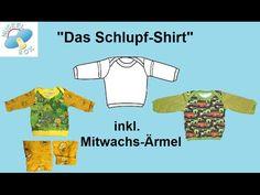 """Nuckelbox: Tutorial Schnitt-& Nähanleitung """"Das Schlupf-Shirt"""" für Babys & Kleinkinder"""