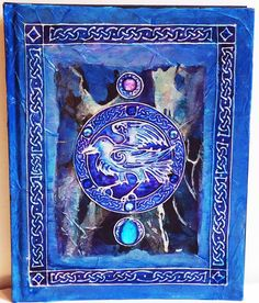 Hand Painted Raven Journal Sketch Book Book of by ShaunaAuraKnight