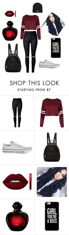 """#Back_To_School"" by omayma-kaddouri on Polyvore featuring mode, Converse, STELLA McCARTNEY, Lime Crime et Vans"