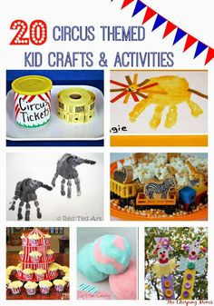 Circus Crafts Activities for Kids The Chirping Moms Circus Activities, Craft Activities For Kids, Projects For Kids, Camping Activities, Vocabulary Activities, Infant Activities, Summer Activities, Craft Ideas, Carnival Theme Crafts