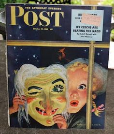 Vintage Halloween Magazine ~ The Saturday Evening Post © October, 1942