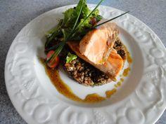 salade de lentilles et saumon mi-cuit - show-devant.fr