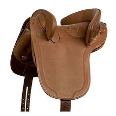 Silla Alta Escuela, de Marjoman, potrera, de montar a caballo con bastes de cuero y posibilidad de comprarla con o sin decoración en el asiento