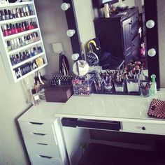 USE THE CABINETS FOR THE MAKE UP AND MAKE IT CUTE!!!!! <3