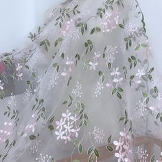 1 Yard Delicate Floral Embroidery Lace Organza Fabric for Boho Dress, Floral Wedding Dress, Curtains Lace Tulle Lace, Lace Fabric, Lace Applique, Floral Embroidery, Bridal Gowns, Wedding Gowns, Romantic Lace, Boho Dress, Floral Wedding