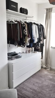 home_decor - My new walk in closet! walkincloset project home fashion shopping style clothes ikea malm ideas Ikea Bedroom, Closet Bedroom, Bedroom Storage, Closet Walk-in, Ikea Closet, Closet Ideas, Closet Hacks, Decor Room, Bedroom Decor