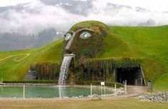"""Museum Of Swarovski:In the town of Wattens, in an underground cave, every day blossom """"Swarovski Crystal Worlds"""". This is the most complicated underground structure-the fragile magic world created from the fantasies and crystal."""