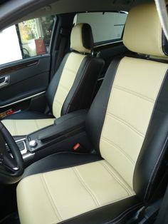 Kann sich überall sehen lassen: E-Klasse mit unseren maßgefertigen Sitzbezügen!  #mercedes #MercedesEklasse #limousine #sitzbezüge #maßgefertigt #seatcover #beigeblack #vordersitze #elegant