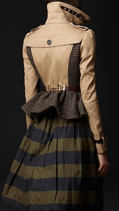 Burberry - Cotton Tweed Heritage Jacket..... Love the jacket