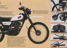 Vintage Motorcycles, Cars And Motorcycles, Final Drive, Motosport, Scrambler, Yamaha, Retro Bikes, Brochures, Honda