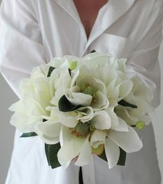 Magnolia Wedding Bouquet Images | Magnolia Bridal Bouquet by BlumeBloom on Etsy