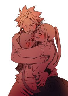 Natsu x lucy and happy nalu and happy lucy fairy, fairy tail love, fairy ta Natsu Fairy Tail, Fairy Tail Love, Fairy Tail Ships, Art Fairy Tail, Lucy Fairy, Fairy Tail Amour, Image Fairy Tail, Anime Fairy Tail, Fairy Tales