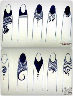 17. #пальца хны - 35 невероятное хна тату #дизайн вдохновения... → #Beauty