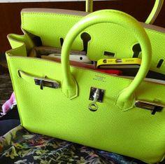 Lime green bag x