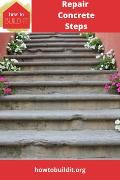 Nothing screams fixer upper like front porch steps that have cracked and chipped. They are freakin' ugly. Not to mention they become dangerous as well. Don't replace all teh steps, just repair them with our step by step guide to repair concrete steps. Super easy! #repairconcretesteps #DIYhomeimprovement #easydiyprojects #howtobuilditblog Repairing Concrete Steps, Repair Cracked Concrete, Porch Steps, Diy Porch, Garden Diy On A Budget, Diy Outdoor Kitchen, Diy Ideas, Decor Ideas, Front Porches