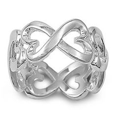 Kinda cute - Sterling Silver Infinity Eternity Heart Ring