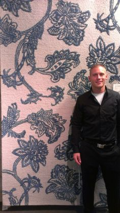 Lots of blue and white at market. Jaipur's Midtown by Raymond Waites Ming Vase is a number one stunna and so is smokin' hot rep Jason. #hpmkt