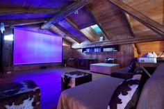 The Superb cinema room in luxury Chamonix chalet La Ferme du Bois - Hip Chalets