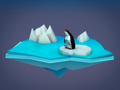 Low poly nature on Behance