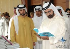 2011 UAE Vice President, Prime Minister and Ruler of Dubai His Highness Sheikh Mohammed bin Rashid Al Maktoum visited the third edition of the Emirates Airline Festival of Literature today, where he met with writers and literary figures taking part in the event.