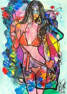 Artwork >> Jürgen Grafe >> EASY TOLL  #artwork, #masterpiece, #oil, #painting, #girl