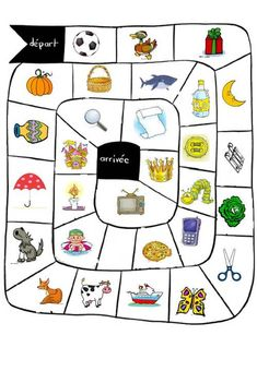 The Syllables of Attack: board game - school outfits Science Worksheets, Reading Worksheets, School Age Activities, Activities For Kids, French Course, Biology Teacher, Syllable, Bingo Cards, Early Literacy