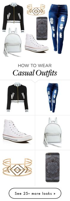 """Casual"" by bettyboop-72-1 on Polyvore featuring Rebecca Minkoff, Converse, Moschino and Stella & Dot"