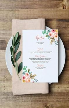 Birthday Dinner Menu Template Gold Glitter 59 Ideas For 2019 Menue Design, Menu Card Design, Diy Wedding Menu, Wedding Menu Template, Wedding Tables, Floral Wedding, Wedding Ideas, Birthday Dinner Menu, Birthday Dinners