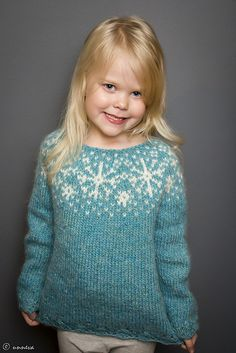 Easy Knitting Patterns for Beginners - How to Get Started Quickly? Knitting Wool, Fair Isle Knitting, Knitting For Kids, Free Knitting, Knitting Projects, Baby Knitting, Icelandic Sweaters, Toddler Sweater, Ravelry