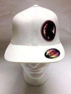 SKIN Industries White Flexfit S M Hat Black Red Cap  SkinIndustries Baseball  Caps fb8534d25655