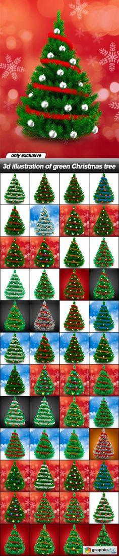 3d illustration of green Christmas tree  48 UHQ JPEG  stock images