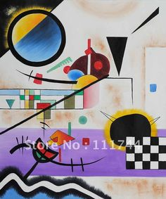 Shop for Wassily Kandinsky 'Contrasting Sounds' Framed Hand-painted Canvas Art. Get free delivery On EVERYTHING* Overstock - Your Online Art Gallery Store! Wassily Kandinsky, Hand Painted Canvas, Canvas Art, Art Moderne, Needlepoint Canvases, Art Furniture, Psychedelic Art, Op Art, Abstract Art