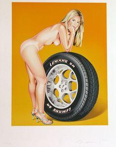 Mel Ramos - Tyra Tyre - Gregg Shienbaum Fine Art