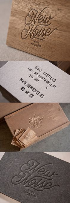 Beautiful Laser Cut Wooden Business Cards For A Wedding Photographer