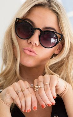 Quay - Invader Sunglasses in Black | SHOWPO Fashion Online Shopping