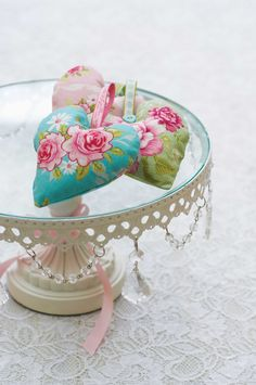 Shabby Chic heart sewing patterns