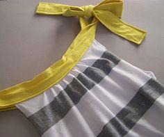 Women's shirt version of free Warhol dress pattern