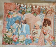 Graphic 45 Precious Memories mini album with 6 x 4 flip page tutorial by Anne Rostad