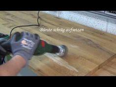 Holz künstlich altern lassen - Teil 1 Bürsten - YouTube