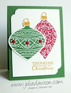 Stampin' Up! Embellished Ornaments Christmas Card