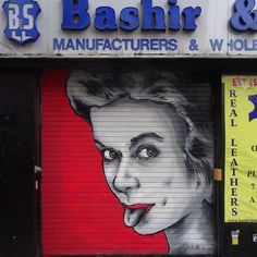 #streetart #spraypaint in a #shutter by #zabou @zabouartist in #london